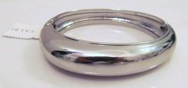 "Talbots Bracelet Cuff Silver Toned Hinge Closure 9 1/2"" Msrp $49.50 Nwot - $29.89"