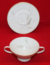 Rosenthal Continental Regina Gold Footed Creme Soup Bowl Handle Sauncer ... - $50.57