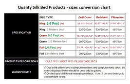 Luxury Silver Gray Mulberry Silk Satin Top Sheet Duvet w/ 2 Pillow Cases 4 Pc Be image 2
