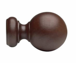 "Kirsch Wood Trends Classics Ball Finial, for 3"" pole, Mahogany (MPN# 59083083) - $90.98"