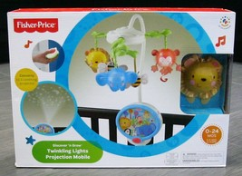 Fisher Price Twinkling Lights Projection Infant Baby Bed Crib Musical Mobile New - $124.99