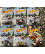 Hot Wheels 2020 Holiday Winter Cars Set Of 6 with 2021 Carbonator W3099 ... - $29.65