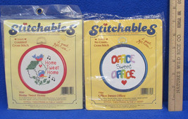 Dimensions Cross Stitch Craft Kit Stitchables Home 7599 & Office 7728 Lot of 2 - $11.28