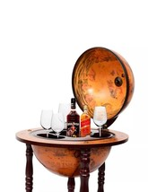 "36"" Wood Globe Wine Bar Stand 16th Century Ital... - $56.84"