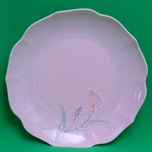 "Beautiful Asian 9"" Pink Lily Design Decorative Plate - $3.95"