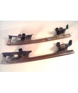 Vintage Union STEEL Clamp On Metal Ice Skates Retro Art Decor Antique - $24.95