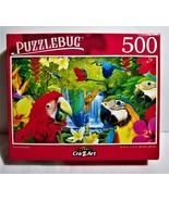 Puzzlebug 500 PC puzzle  NIB Parrot Paradise - $6.50
