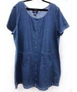 Original TY Wear Size 24W Denim Blue Jean Romper Jumper Womens Dress w/P... - $32.30