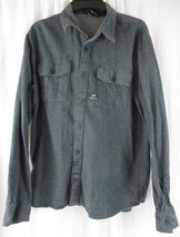 Vans Men's 100% Cotton Blue Gray Striped Long Sleeve Button Up Shirt Size L - $17.81