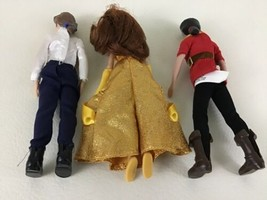 Disney Store Beauty Beast Figures Dolls Belle Beast Gaston Clothing Acce... - $39.55