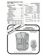 Adults' Oakridge Hunter's Vest #501 Sewing Pattern (Pattern Only) gp501 - $6.00