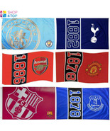 OFFICIAL FOOTBALL SOCCER CLUB LARGE FLAG ROOM MATCH FAN ACCESSORIES NEW - $7.90
