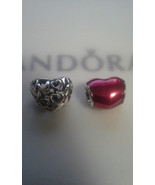 Pandora Sterling silver motherly love charm/ in myheart violet enamel Charm - $55.00