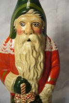 Vaillancourt Folk Art Red Forest Santa with Kissing Ball signed by Judi! image 5