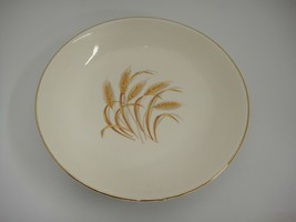 "Vintage Homer Laughlin Golden Wheat Coupe Soup Bowl 22 K Gold Rim 7-5/8"" - $5.93"