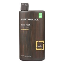 Every Man Jack Body Wash Sandalwood - Case of 16.9 - 16.9 fl oz. - $9.19
