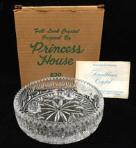 """Princess House Crystal Bowl Centerpiece Candle Holder Heritage Pattern 6.25"""" - $14.84"""