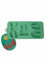 Easter 3D Silicone Green Mold Wilton 4 Cavities Bunny Egg Chick - $8.70