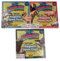 Wild Republic Travel Games Magnetic Puzzles Pig Alligator Bald Eagle Lot 60 - $45.49