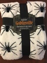 NWT Halloween Spider Berkshire Goblinville Plush Fleece Throw Blanket - $35.49 CAD