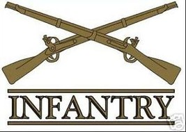 US ARMY INFANTRY MILITARY CAR WINDOW DECAL - $13.53