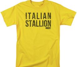 Rocky Italian Stallion T-shirt Logo Retro 70's 80's Movie Cotton Tee MGM183 image 2