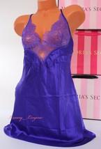 Vs Victoria's Secret Lingerie Slip Slick Babydoll Unlined Lace S Small Violet - $24.99