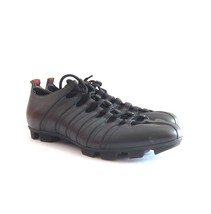 54c26aaf56e P-119230 New Gucci Black Leather Fashion Sneakers Size US 11 Marked 10 - £