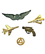 Vintage military pins, set of five US air force pins and badges - $24.75