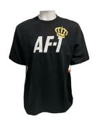 Raro Air Force Af- 1 Realeza Hombre Negro T- Camisa Con Corona Dorada Ta... - $78.99