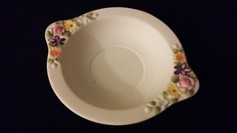 Vintage Lefton China KW3221 White Porcelain Ash Tray Antique Dish Painted Floral - $32.00