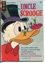 UNCLE SCROOGE #65 1966-GOLD KEY-WALT DISNEY-CARL BARKS ART-FLYING SAUCER... - $46.66