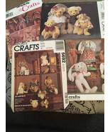 4 Patterns Four Bears Rabbits McCalls Simplicity Vogue Sew Create Crafts... - $30.00