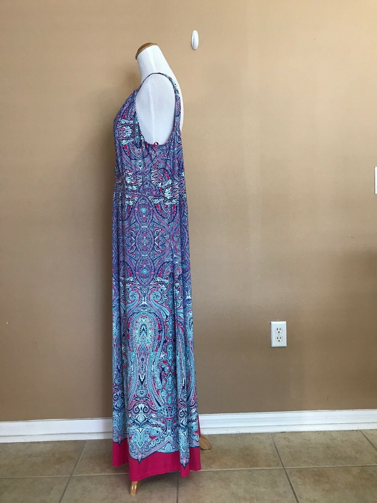 New Directions Plus 1X Dress Sleeveless Paisley Bright Colors