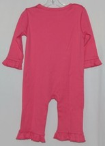 Blanks Boutique Long Sleeve Pink Snap Up Ruffled Romper 12 months image 2