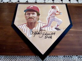 MIKE SCHMIDT 548 HOME RUNS PHILLIES HOF SIGNED AUTO HAND PAINTED MLB HOM... - $395.99