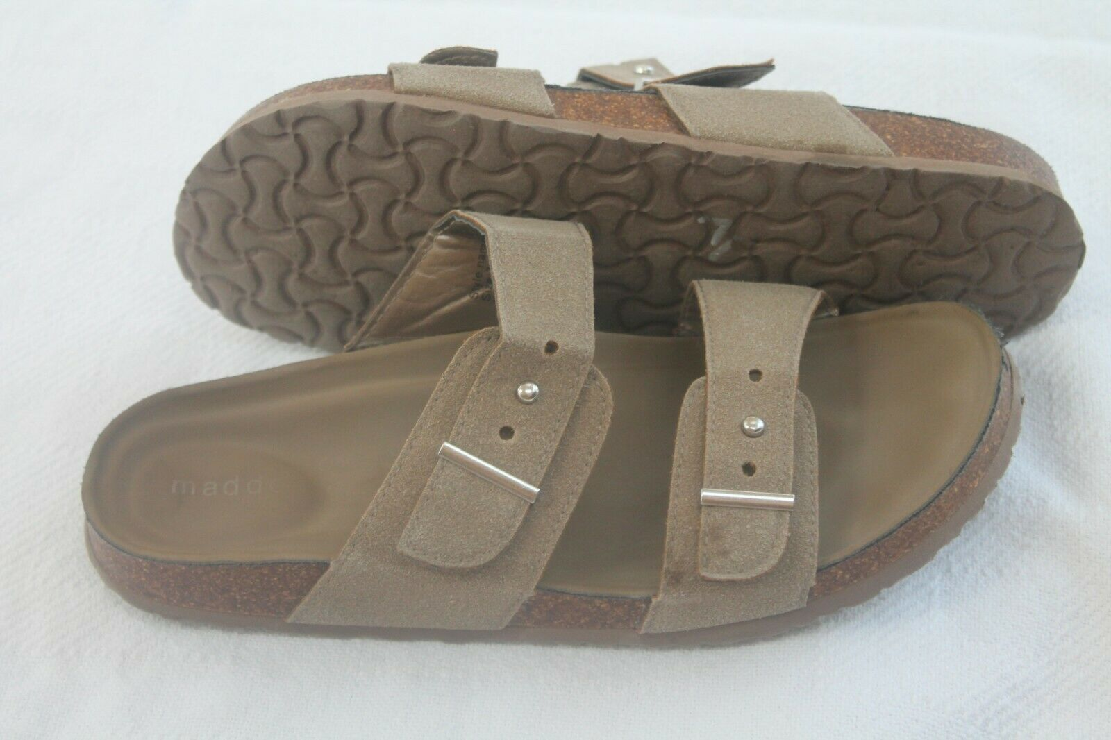 Primary image for Madden Girl Size 7 Women's Bezell Slide-On 2 double staps corkbed  Sandal