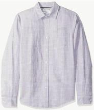 Amazon Essentials Men's Slim-Fit Long-Sleeve Linen Cotton Shirt -SEALED