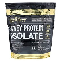 California Gold Nutrition, Whey Protein Isolate Instantized, Ultra-Low L... - $52.55