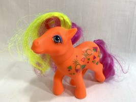 Vtg 1984 My Little Pony MLP G1 Rockin' Beat Beats Half Note Neon Orange ... - $24.74