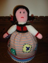 Cinderella to Princess 2 Dolls in 1 Handmade Knitted Doll Turn Inside Ou... - $28.85