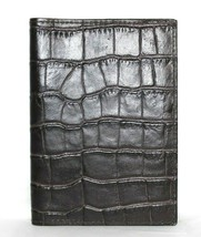 ❤️ GIEFFE Italian Croco-Embossed Genuine Leather Passport Cover 4x5.5 NE... - $33.24