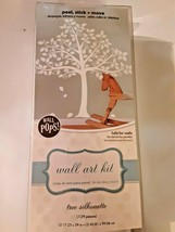 WALL POPS Wall Art Kit Large White Tree Silhouette  NEW Peel & Stick - $19.79
