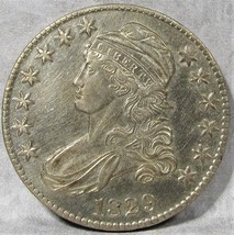 1829 Capped Bust Half Dollar CH AU Details Very Lustrous! AD490 - $437.14