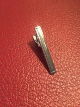 Vintage 60s silver plated Plain Box tie clip (bar style)
