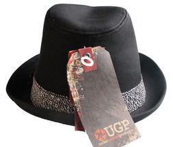 UGP Under Ground Products Grems Mens Black and White Ska Fedora Hat NWT image 4
