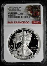 2018S Silver Eagle Limited Edition Set First Day of Issue PF69 Ultra Cam SKU C70