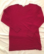 Liz Lange Maternity Red pullover sweater- Large - $9.99