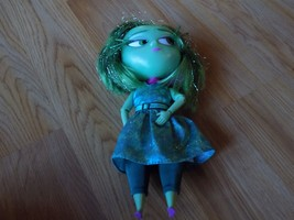 """Disney Store Inside Out Green Disgust Talking Doll 9"""" Lights Sounds EUC - $20.00"""