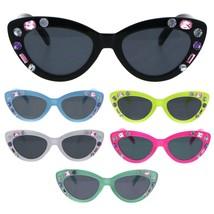 Kids Size Girls Large Rhinestone Bling Thick Plastic Mod Cat Eye Sunglasses - $9.95